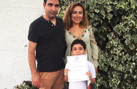 Felicidades a José Tomás Pardo del Colegio Árabe
