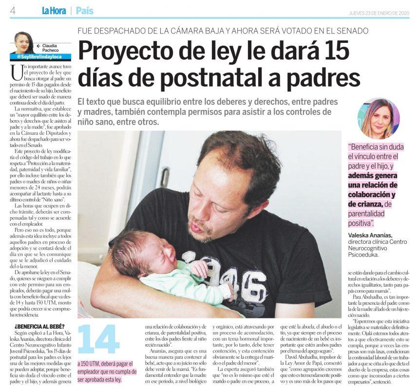Diario La Hora: Beneficios para los niños del postnatal para padres