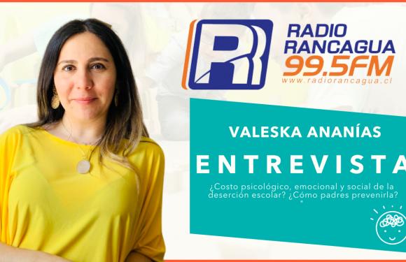 """Radio Rancagua: """"Costo psicológico, emocional y social de la deserción escolar? / ¿Cómo padres o colegios pueden evitar o prevenir la deserción escolar?"""